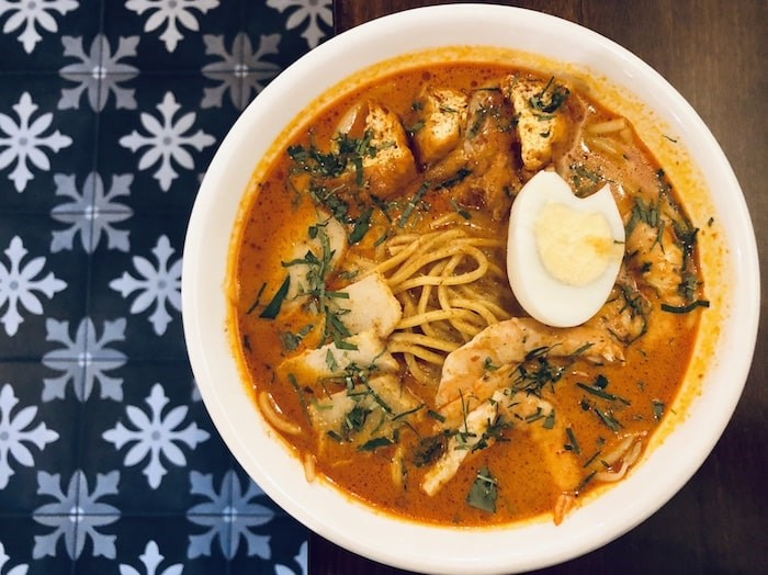 Hearty, spicy, snappy Laksa at Shiok. Photo by Lindsay William-Ross/Vancouver Is Awesome
