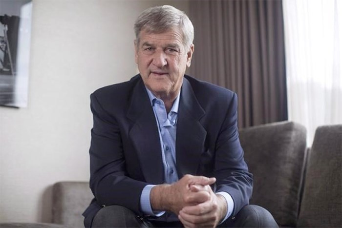 Bobby Orr is pictured in a Toronto hotel room as he promotes his new book
