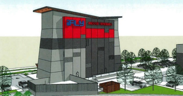 A rendering of what the new iFly indoor skydiving centre, located at 9151 Van Horne Way in Richmond, will look like once completed. Source: City of Richmond