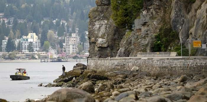 Photo: Sections of the seawall in Stanley Park will be closed starting Nov. 18 as Vancouver Park Board does annual rock scaling work. Photo: Jennifer Gauthier