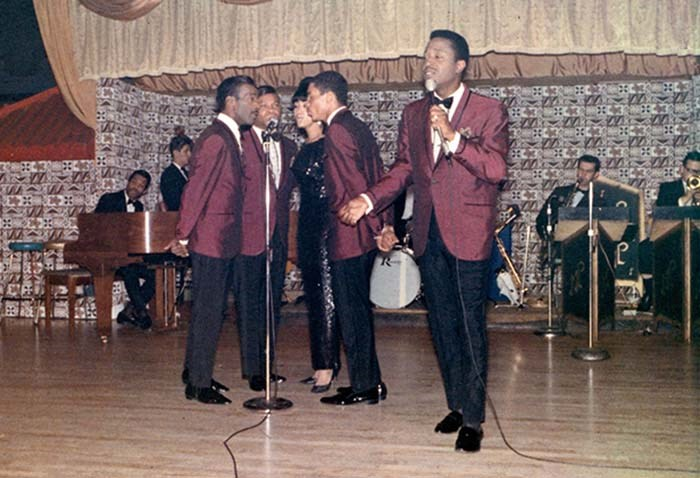 The Platters performing at the Marco Polo. Photo courtesy of Tom Carter Archives
