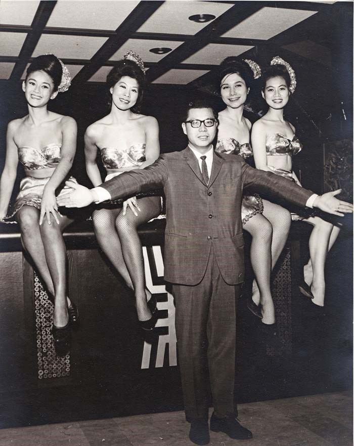 Marco Polo owner Victor Louie and the China Dolls. Photo courtesy of Tom Carter Archives