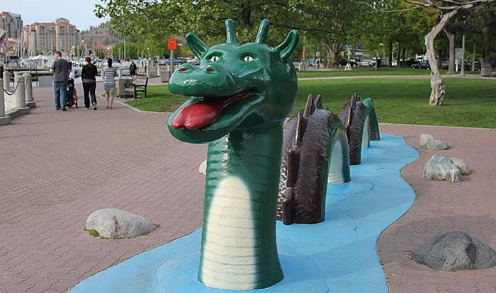 There's a list of 10 facts about the Ogopogo lake monster, most of them true, in the book. - photo supplied
