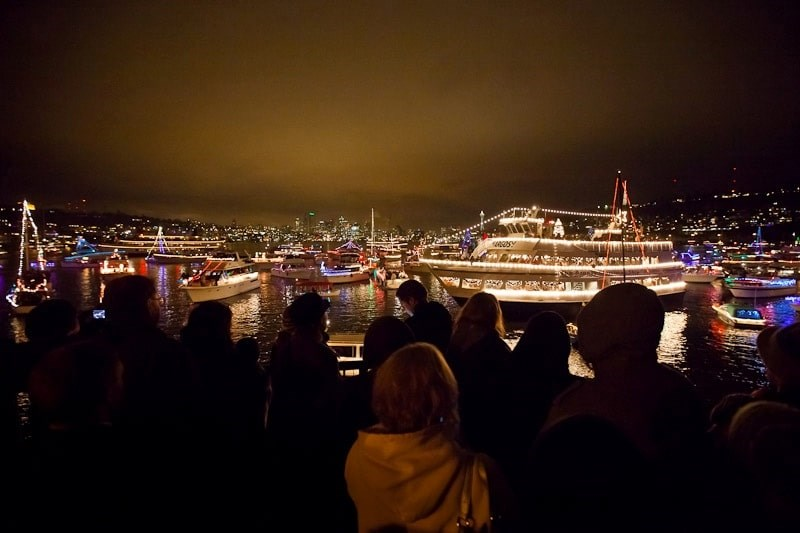 The Christmas Ship Festival includes Follow Boat parties. Photo Christopher Nelson