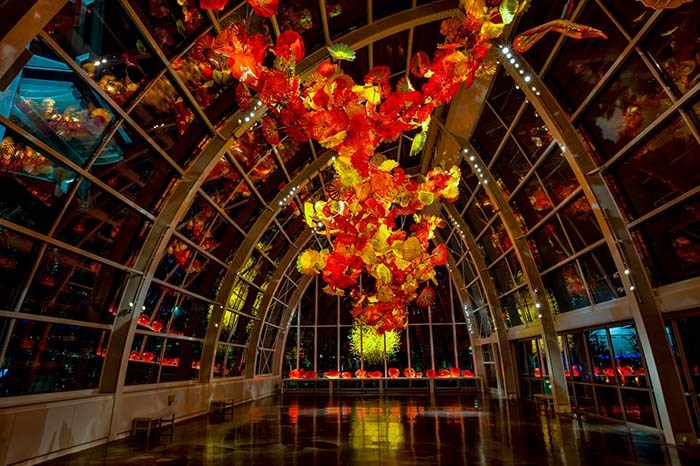 A visit to the Chihuly Garden and Glass museumis a must any time of the year. Photo Chihuly Garden and Glass