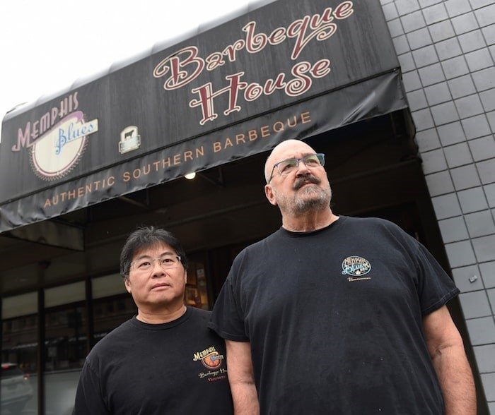 Park Heffelfinger and George Siu have to close down Memphis Blues on Broadway by the end of January. Photo Dan Toulgoet