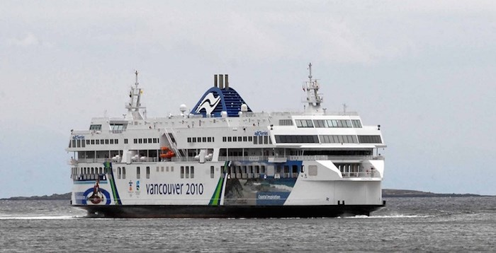 The Coastal Inspiration approaches Nanaimo. BC Ferries is known for their unreliable Wi-Fi service. Times Colonist file photo