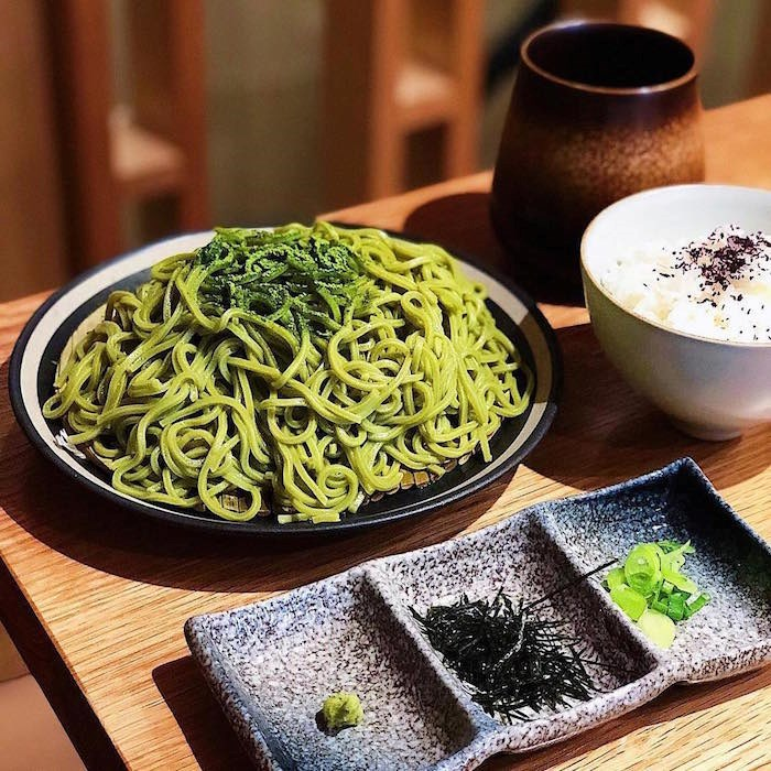 Tsujiri specializes in matcha, and work it into everything from soft serve and pastries to soba noodle dishes.