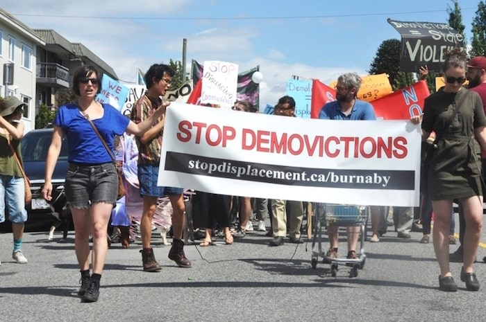 Housing activists will be returning to Burnaby City Hall Tuesday evening to oppose four rezoning applications. Photo by Jeremy Deutsch