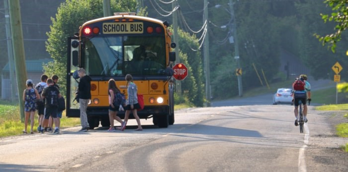 A bill is being introduced that would make seatbelts mandatory in new school buses in B.C. Photo: Eric Buermeyer / Shutterstock.com