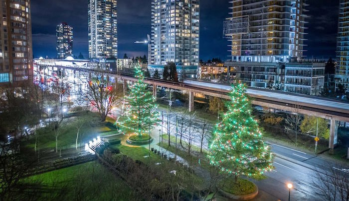 There are 26 Burnaby public spaces and parks that will sparkle with festive lights this holiday season. Photo: