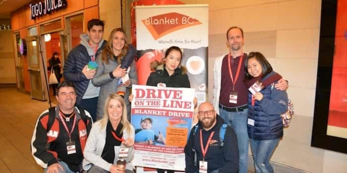 Volunteers hope to collect 10,000 blankets over the course of this weekend's Drive on the Line campaign. Photo: Ron Perron Photography & Design