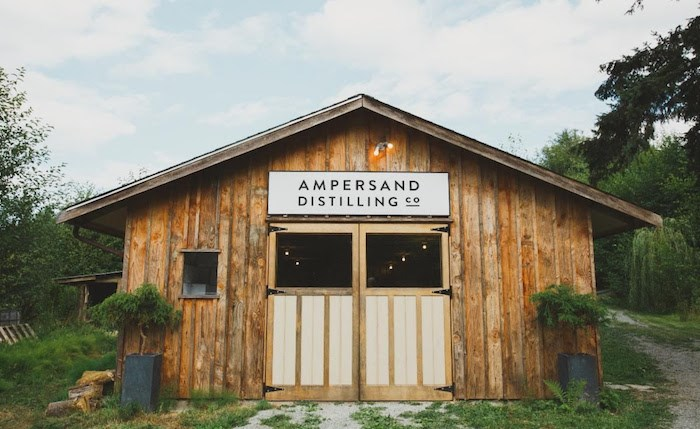 Ampersand Distilling Co in the Cowichan Valley. Photo courtesy Ampersand
