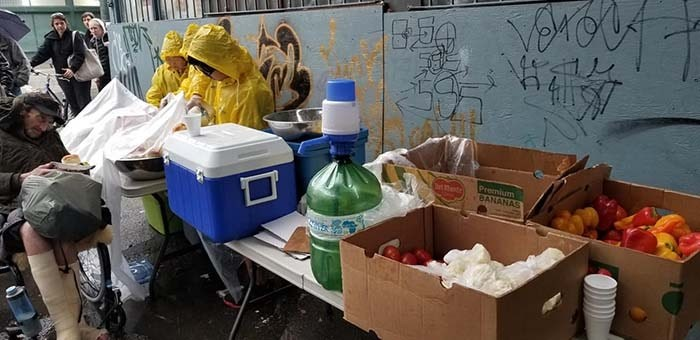 The charity has been helping to feed people in need on the DTES every Saturday from 3 p.m. to 6 p.m. over the past year. Photo: L.O.A.M.C