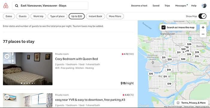 Airbnb.com screengrab