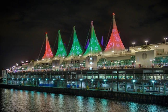 Sails of Light during Christmas at Canada Place. Photo courtesy Canada Place