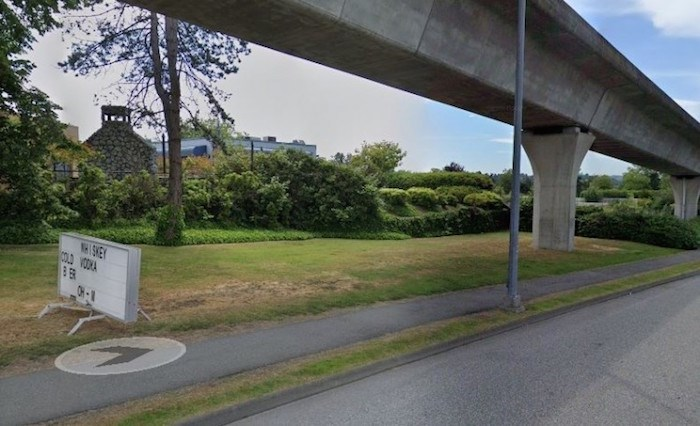 This Telus-owned property at 7000 Lougheed Hwy. in Burnaby is the subject of two separate lawsuits. Photo: Google Street View