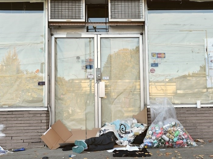 A new report posted on the City of Vancouver's website says 108 people of 2,223 counted in March homeless count are military or RCMP veterans. Photo Dan Toulgoet