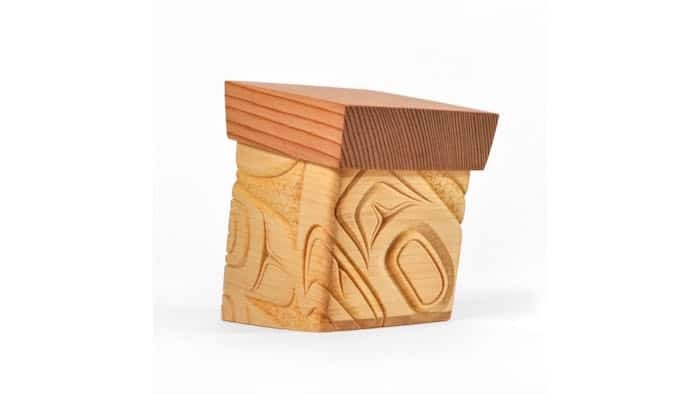 Photo: A bentwood box created by Burnaby artist James Michels for the Lattimer Gallery's charity auction.