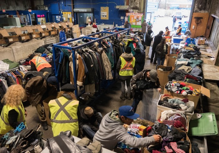 Gift of Warmth aims to collect warm winter clothing for Vancouver's binner community. Photo courtesy Vancouver Regional Recycling