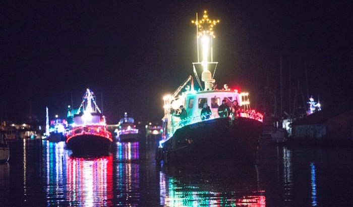 The carol ships are back this weekend in Ladner Harbour in Delta. File photo Delta Optimist