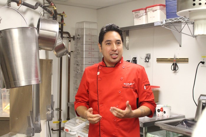 Gelato Maestro Andrés Bermudez starts the class. Photo by Lindsay William-Ross/Vancouver Is Awesome