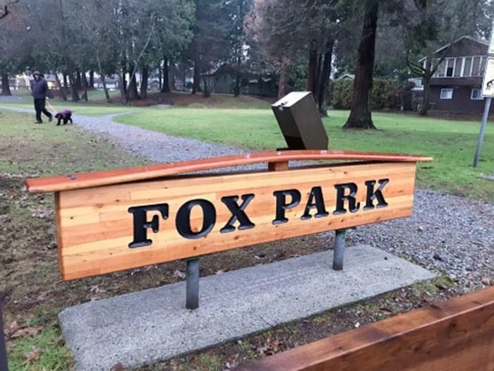 Fox Park on Lancaster Avenue in Port Coquitlam.