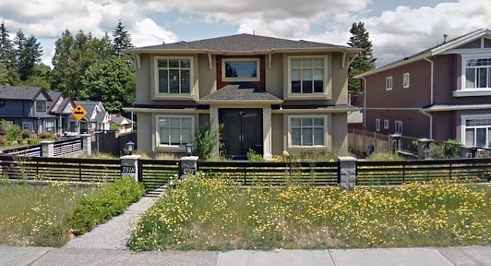 The province is suing to seize this Burnaby house at 7318 Fourth St., alleging it is linked to a Canada Revenue Agency scam. Photo: Google Street View