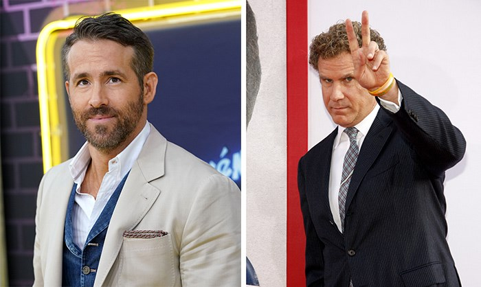 Ryan Reynolds and Will Ferrell. Photos Shutterstock