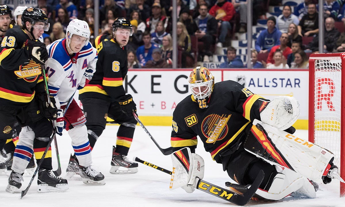 Jacob Markstrom Is Bringing Back The Two Pad Stack Vancouver Is Awesome