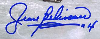Jean Beliveau autograph