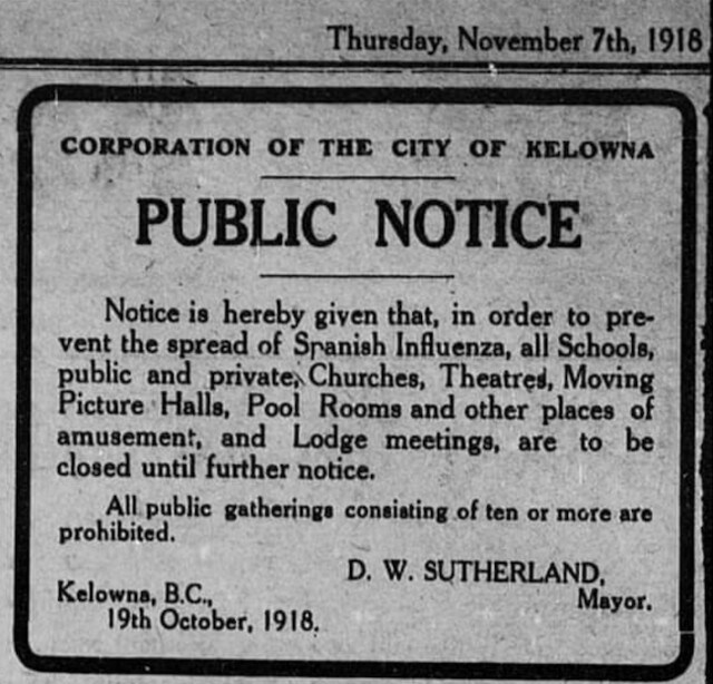 Kelowna Record Spanish flu 1918 screen_shot_2020-03-17_at_3.57.21_pm_p3446405