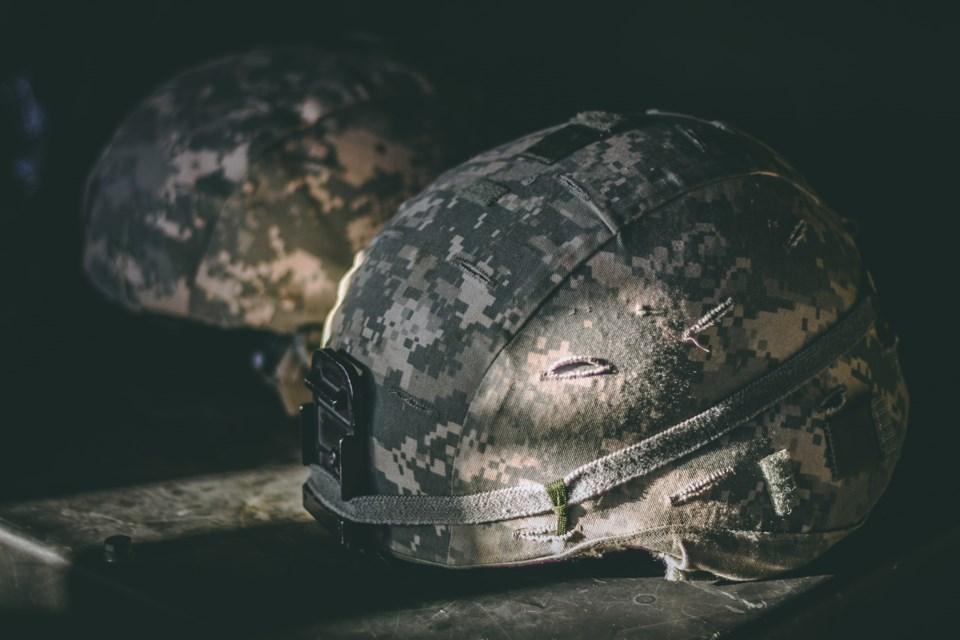 military helmet