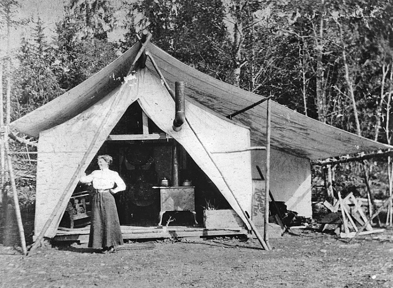 North Vancouver tent 1911 pic