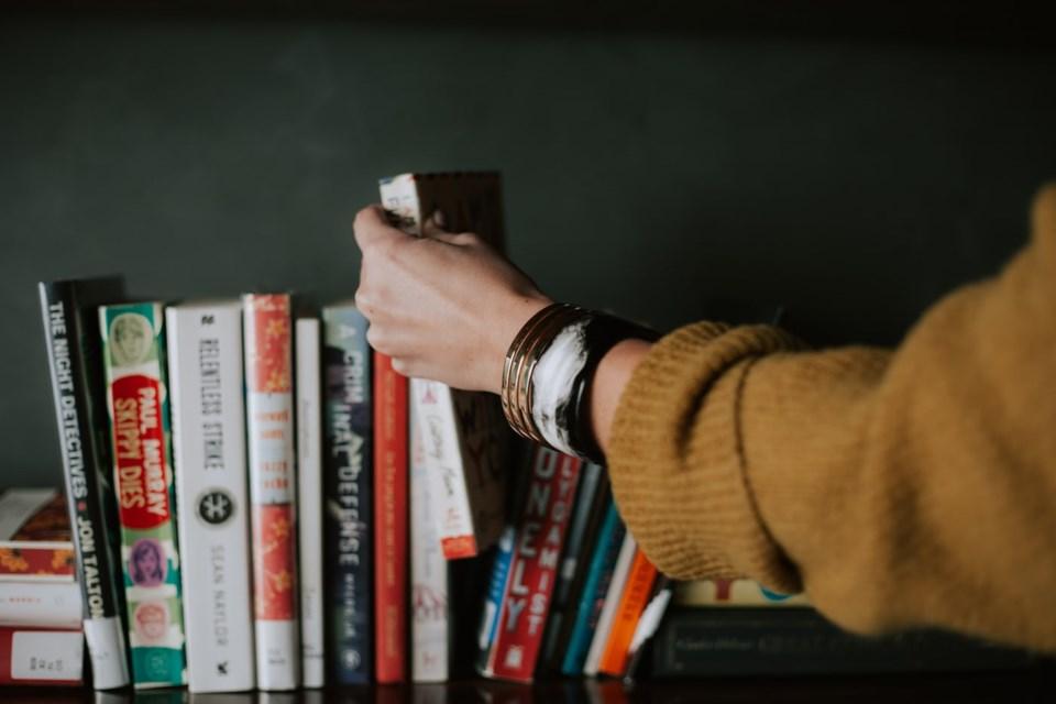 reading book shelf