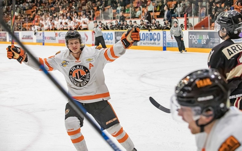 Port Moody's Kent Johnson seen here as a member of the Trail Smoke Eaters of the BCHL. | File photo