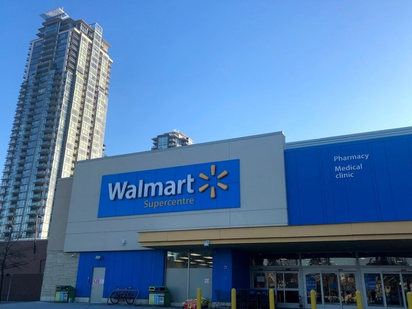 The Walmart Canada location at Coquitlam Centre. Photo by Kyle Lee