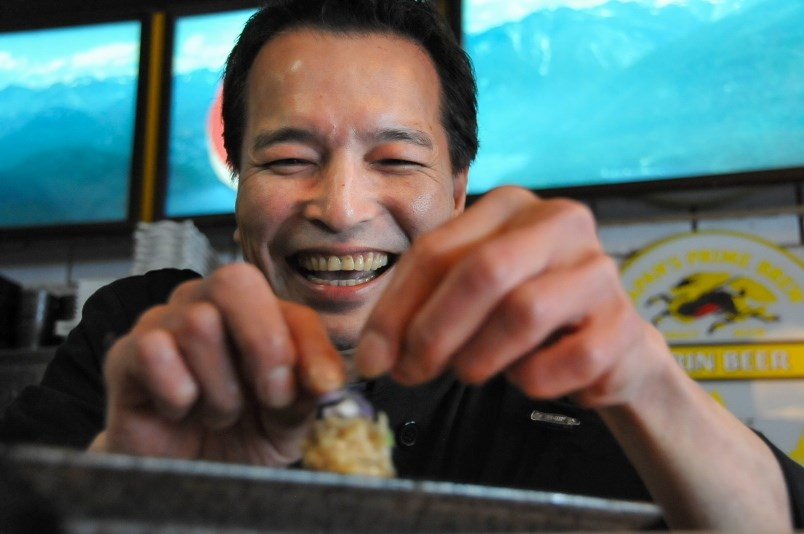 Metro Vancouver sushi master rolls the 'Dr. Bonnie,' a tribute to B.C.'s top doc