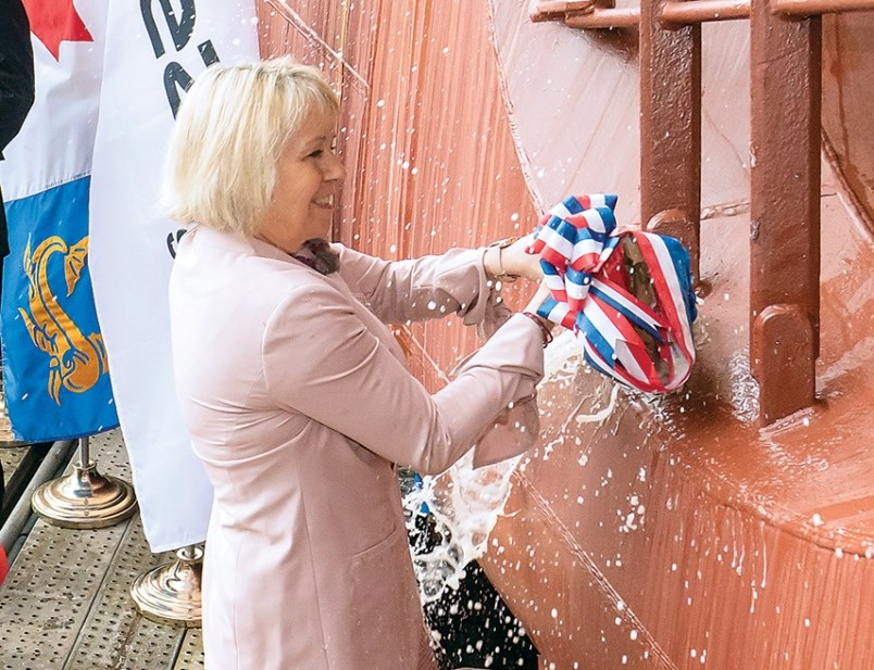 Dr Bonnie Henry Launches Coast Guard Ship In North Vancouver Vancouver Is Awesome