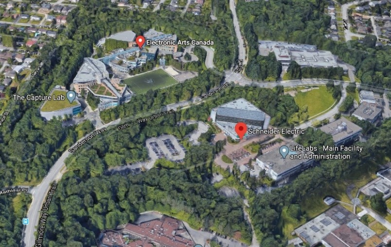 A view of the Burnaby campus of Electronic Arts. EA graphic