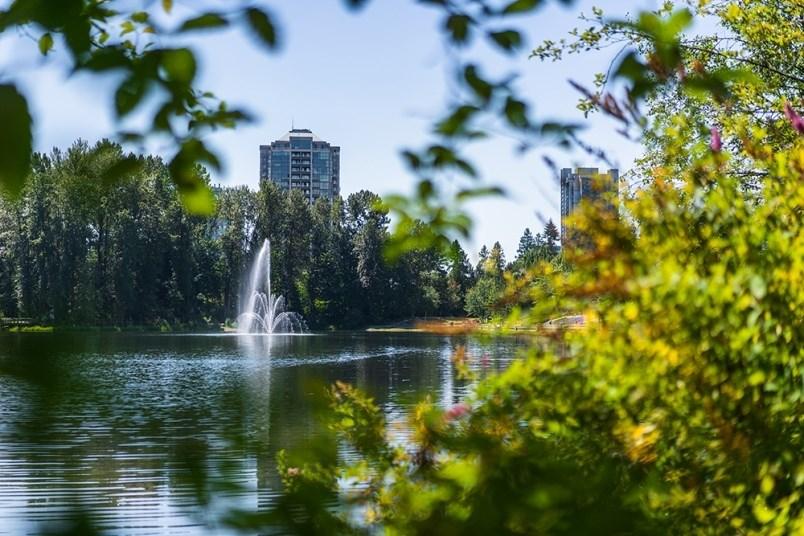 town-centre-park-lafarge-lake-coquitlam-skytrain