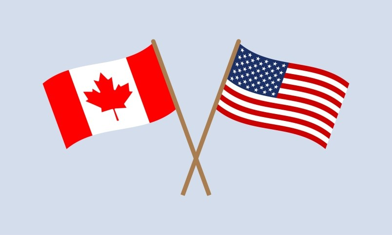 us-canadian-flag