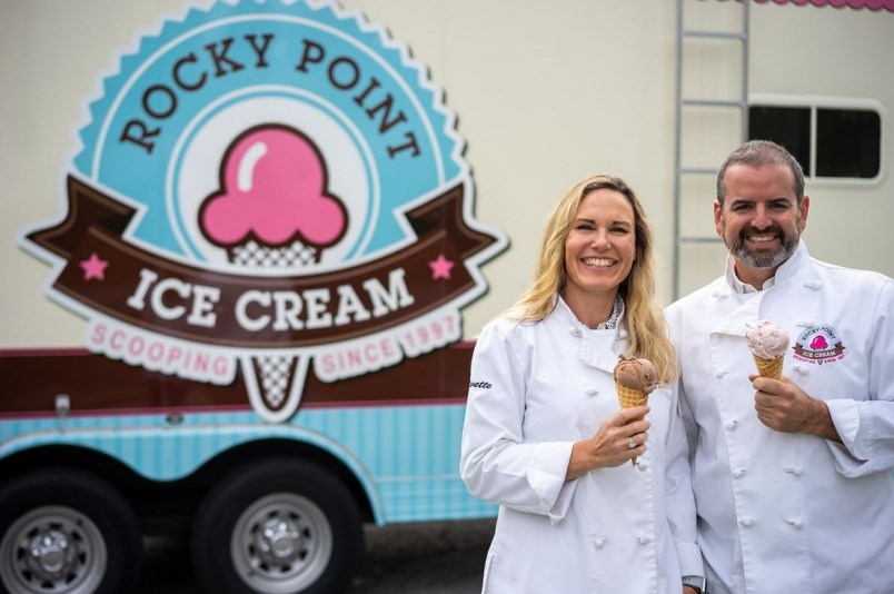 Yvette and Jamie Cuthbert own Rocky Point Ice Cream.