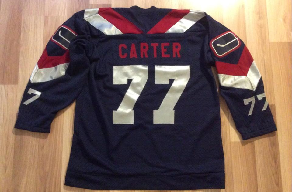 Custom-designed Anson Carter jersey. photo: Wafflebored
