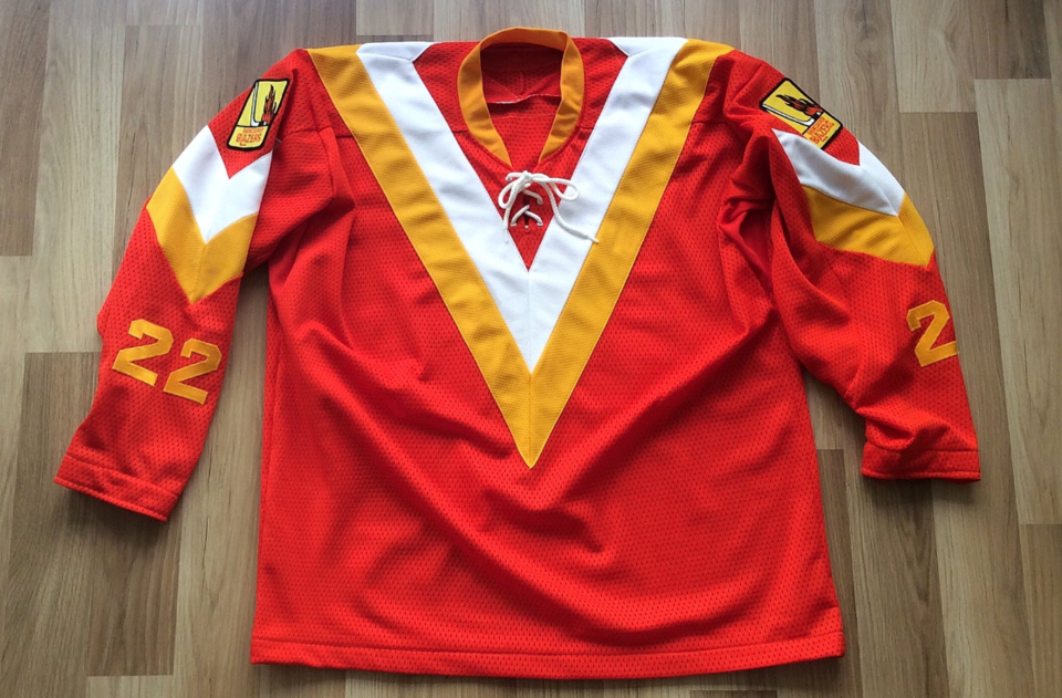 Custom-designed Canucks/Blazers hybrid jersey. photo: Wafflebored