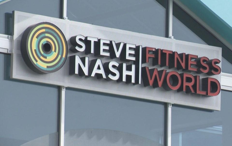 Steve Nash Fitness World sign