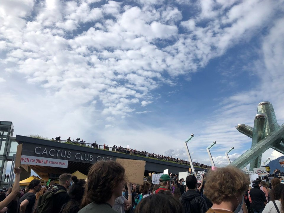Vancouver black lives matter protest by elana