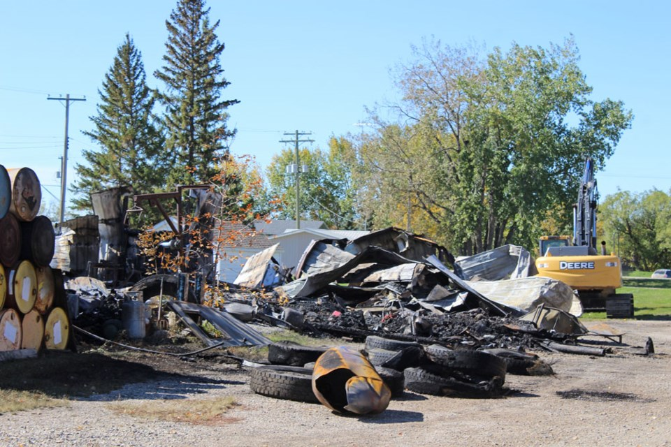 The fire was contained to the shuttered business.