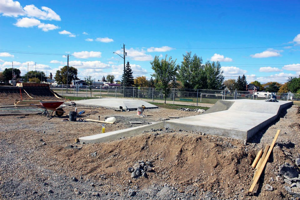 The skate park, located on the corner of Fifth Avenue South and Lyons Street East is taking shape.