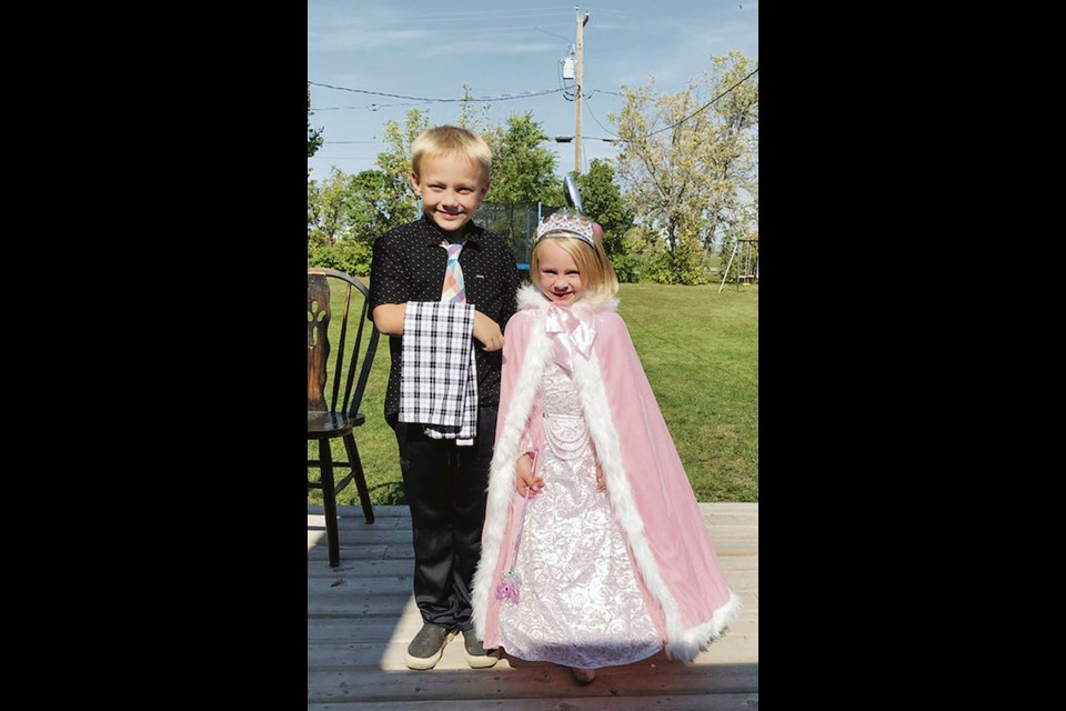 Helen Martens' great-granddaughter Scarlett at her sixth birthday party in Elkhorn. Brother Lucas is the butler, looking after the princess and her guests.